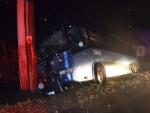 nehoda prázdneho autobusu obec Bitarová