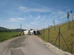 slovenský kamión mimo dialnice D1 Považská Bystrica