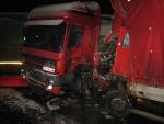 zrážka kamionov pri Novákoch