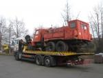 prevoz jedinečnej V3S pre múzeum hasičskej techniky v Martine