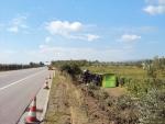 nehoda polského kamionu D1 Ilava-spolupráca Tiso Trenčín