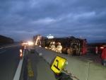 nehoda polského kamionu na D3 pred Žilinou