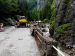 Vrátna dolina-lejak,zosuv pôdy,blesková povoden a jej následky