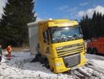 zapadnutý madarský kamión pri Dolnom Kubíne