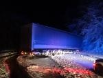 Homôlka-uviaznutý rumunský kamion